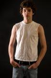 Retrato de un adolescente sano Imagen de archivo libre de regalías