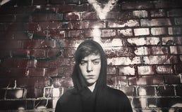 Retrato de un adolescente serio Fotos de archivo
