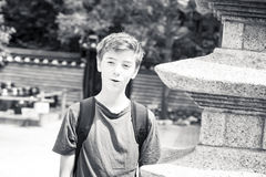Retrato de un adolescente sonriente Fotografía de archivo