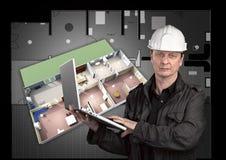 Retrato de un arquitecto Imagen de archivo libre de regalías