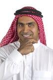 Retrato de un asunto árabe acertado Fotos de archivo libres de regalías