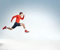 Retrato de un atleta joven ambicioso Imagen de archivo libre de regalías