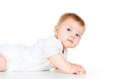Retrato de un bebé hermoso imagenes de archivo