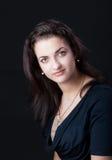 Retrato de un brunette del beautifu Fotografía de archivo