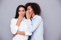 Retrato de un chisme de dos muchachas Fotos de archivo