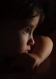 Retrato de un cierre del bebé para arriba Foto de archivo