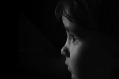 Retrato de un cierre del bebé para arriba Imagenes de archivo