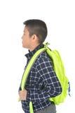 Retrato de un colegial con la mochila, Fotos de archivo
