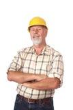 Retrato de un constructor Imágenes de archivo libres de regalías
