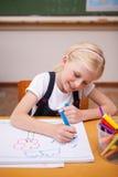 Retrato de un dibujo de la muchacha Imagen de archivo libre de regalías