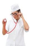 Retrato de un doctor de la mujer joven Imágenes de archivo libres de regalías