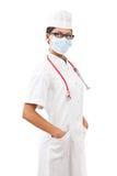 Retrato de un doctor de la mujer joven Imagenes de archivo
