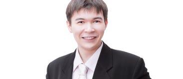 Retrato de un empresario joven acertado Aislado en blanco fotos de archivo libres de regalías