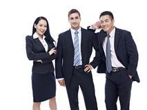 Retrato de un equipo multinacional del negocio Fotografía de archivo