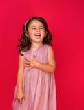 Retrato de un feliz, niña Foto de archivo libre de regalías