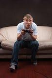 Retrato de un gamer Foto de archivo libre de regalías