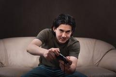 Retrato de un gamer Imagen de archivo libre de regalías