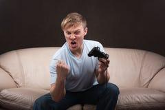 Retrato de un gamer Imágenes de archivo libres de regalías