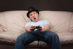 Retrato de un gamer Imagen de archivo