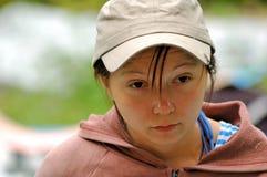 Retrato de un gerl de mirada anhelante Imagen de archivo libre de regalías