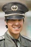 Retrato de un guardia de seguridad chino joven, Pekín, China Imagen de archivo libre de regalías