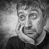 Retrato de un hombre Imagen de archivo libre de regalías