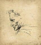 Retrato de un hombre stock de ilustración