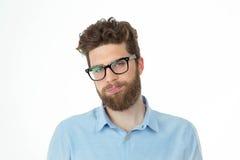 Retrato de un hombre aburrido de la barba Foto de archivo