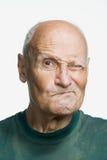 Retrato de un hombre adulto mayor Imagen de archivo