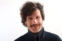 Retrato de un hombre atractivo en el fondo blanco Imagenes de archivo