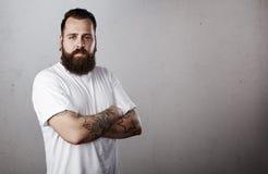 Retrato de un hombre barbudo Fotografía de archivo