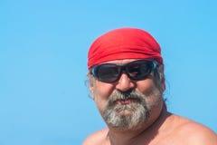 Retrato de un hombre barbudo Foto de archivo libre de regalías