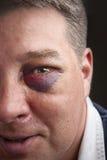 Retrato del ojo morado Fotos de archivo