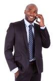 Retrato de un hombre de negocios africano joven Imágenes de archivo libres de regalías