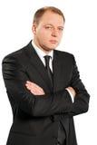 Retrato de un hombre de negocios con los brazos cruzados Imagenes de archivo