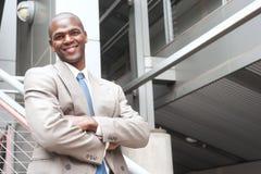 Retrato de un hombre de negocios del afroamericano fotografía de archivo libre de regalías