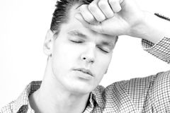 Retrato de un hombre de negocios hermoso - deprimido Fotografía de archivo libre de regalías