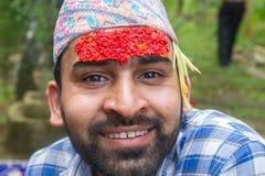 Retrato de un hombre del Nepali imagen de archivo