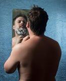 Retrato de un hombre desnudo Imagen de archivo