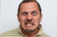 Retrato de un hombre enojado Imágenes de archivo libres de regalías