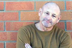 Retrato de un hombre envejecido medio hermoso Imagen de archivo libre de regalías