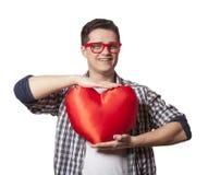 Retrato de un hombre joven con forma del corazón Fotos de archivo