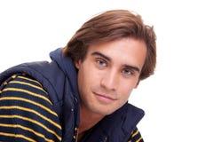 Retrato de un hombre joven hermoso Foto de archivo libre de regalías