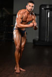 Retrato de un hombre joven muscular físicamente cabido imágenes de archivo libres de regalías