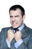 Retrato de un hombre maduro enojado expresivo Imagen de archivo libre de regalías