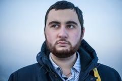 Retrato de un hombre preocupante joven Imágenes de archivo libres de regalías