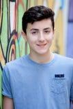 Retrato de un hombre rebelde del adolescente Imagen de archivo