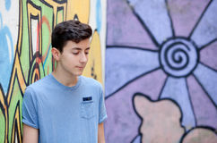 Retrato de un hombre rebelde del adolescente Fotos de archivo libres de regalías