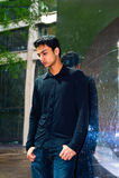 Retrato de un individuo asiático joven Foto de archivo libre de regalías