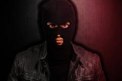 Retrato de un ladrón asustadizo Imagen de archivo libre de regalías